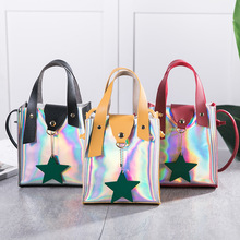 sling bagMobile Phone Bag Handbag 2020 New Tide Mini Five-Pointed Star Change Laser Packet Messenger
