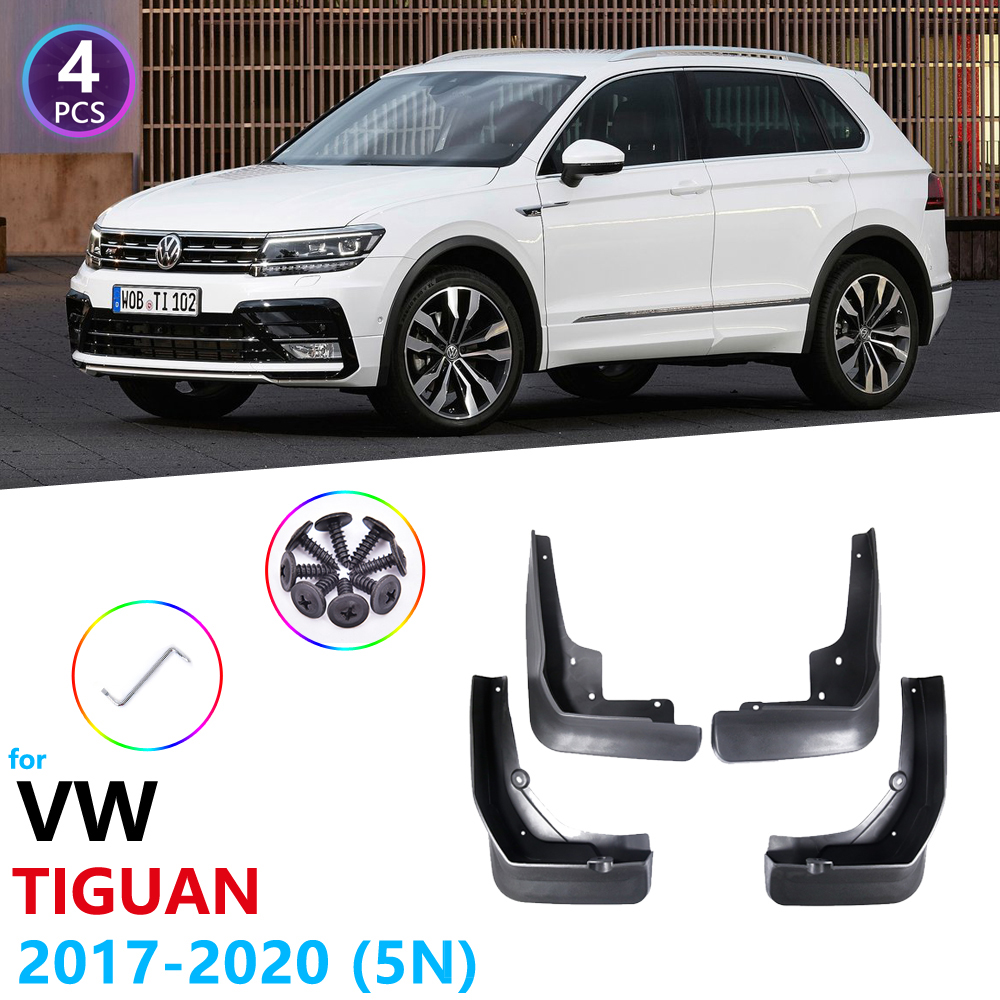 Mudguards for Volkswagen VW <font><b>Tiguan</b></font> 5N 2017 2018 <font><b>2019</b></font> 2020 MK2 Guard Splash Flaps Car <font><b>Accessories</b></font> Fender Mudflaps Mudguard image
