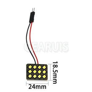 Image 2 - 100 conjunto de luzes interiores do veículo do carro painel cúpula lâmpada led 12 24 smd 2835 0.5w led 0.12a 0.24a mapa da lâmpada de leitura luzes do telhado bulbo 12v