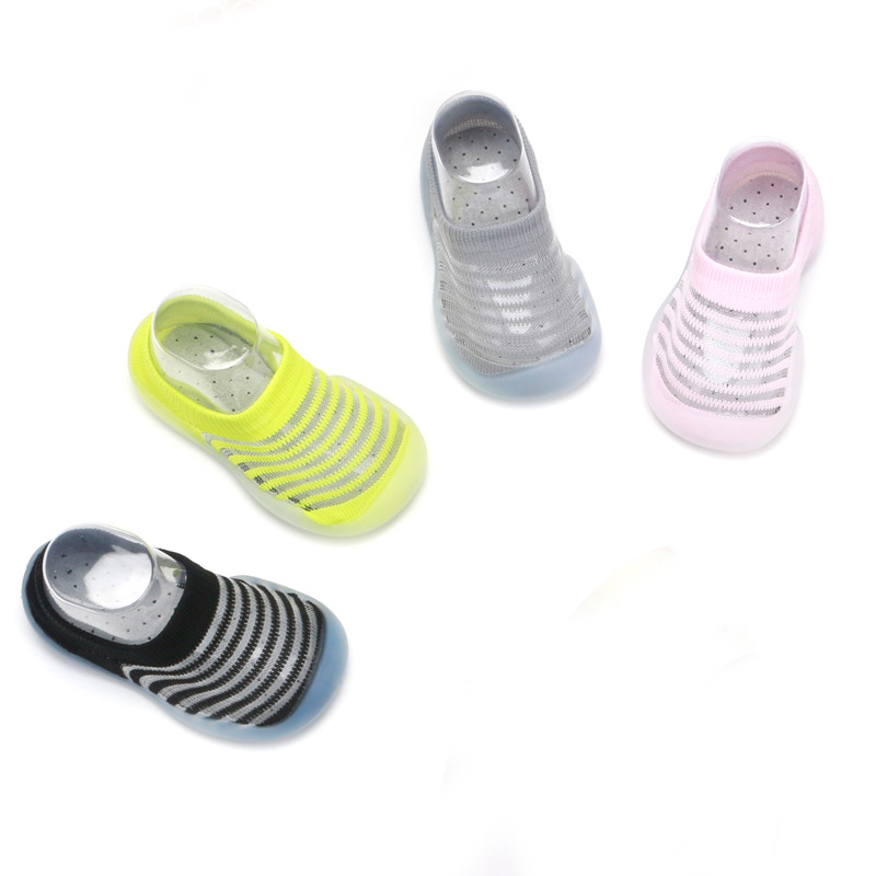 Baby Waterproof Non-slip Non-Falling Infant Ankle Sock Baby Toddler Shoes Summer Thin Viscose Shoes Soft Rubber Sole Baby Shoes