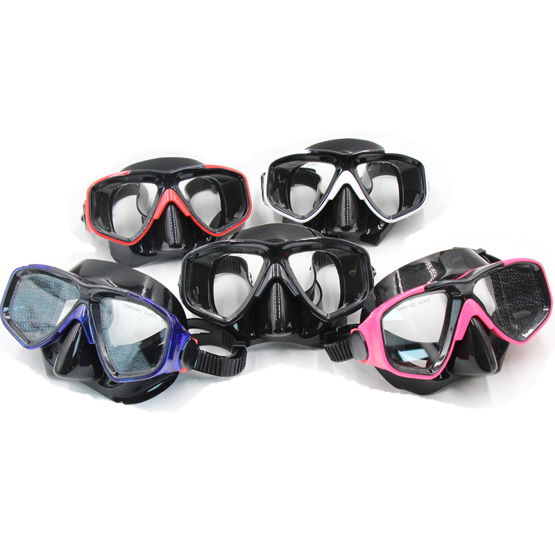 Ricky Women Men Snorkeling Diving Mask Anti-fog Skuba Diving Goggles Wide Vision Underwater Glasses Water Sports Swim Drop Ship