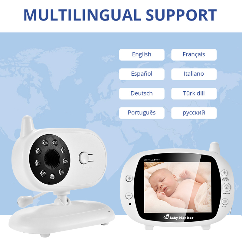 3 inch Baby Monitor With Security Night Vision Camera And a Voice Call For child Security 5