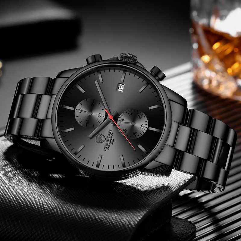 Cheetah Mannen Horloges Top Merk Luxe Mode Zwarte Business Quartz Horloge Heren Chronograaf Sport Horloge Relogio Masculino