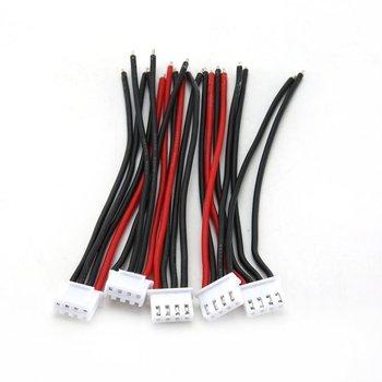 5 pièces Silicone ligne souple 100Mm Rc Drone Lipo chargeur d'équilibre de batterie 2S 3S 4S 5S 6S 22Awg câble pour batterie Lipo