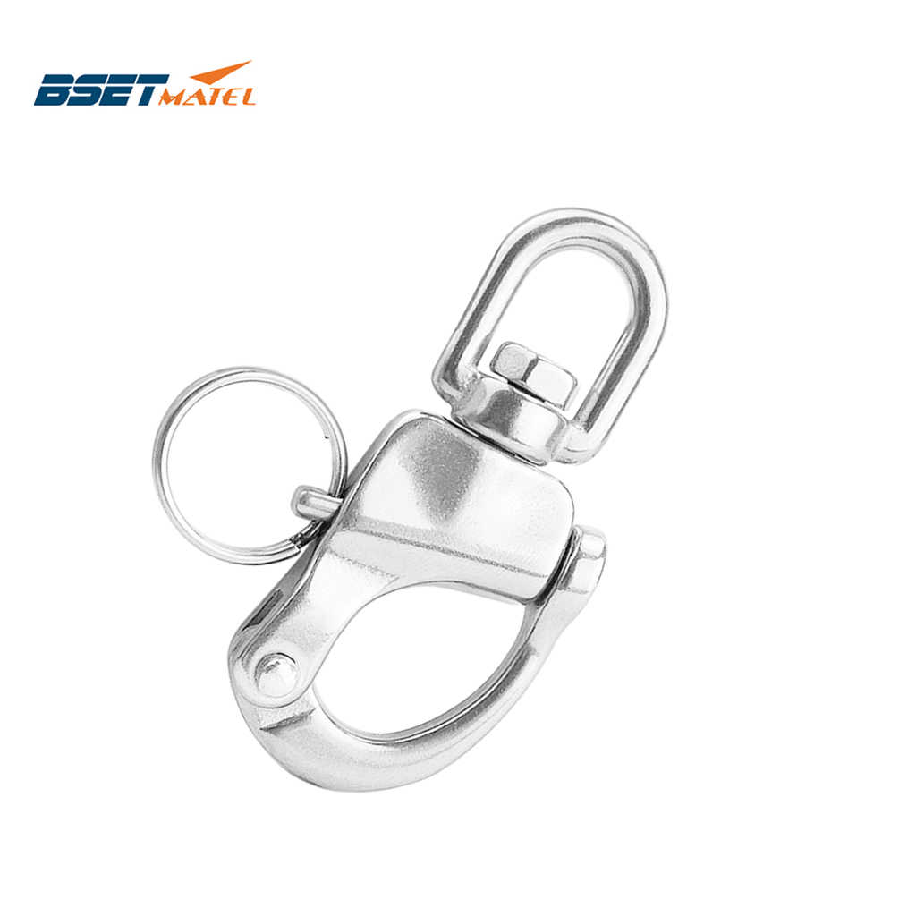 Quick Release Snap Hook Outdoor Stainless Steel Swivel Architectural Polished