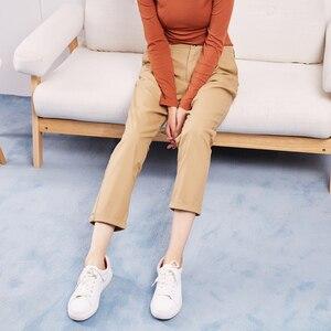 Image 3 - Metersbonwe מזדמן הרמונות מכנסיים לנשים ארוך הרמונות מכנסיים אישה באיכות גבוהה למתוח מותן משרד ליידי מכנסיים 753524