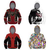 Enfants 3D Spiderman sweat à capuche garçons filles à manches longues enfants Hoodies veste zipper hoodies Top t-shirt Enfant manteau