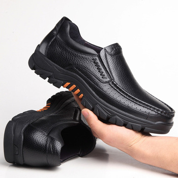100% Genuine Leather Shoes Men Loafers Soft Cow Leather Men Casual Shoes 2020 New Male Footwear Black Brown Slip-on KA2088