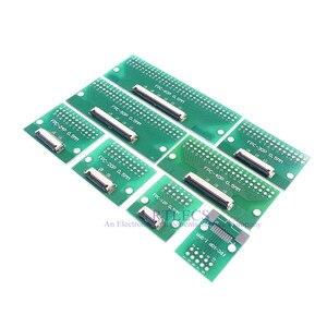 Image 2 - 20pcs FPC FFC Cavo 0.5 millimetri Passo 4 6 8 10 12 14 16 20 24 30 40 50 60 PIN Connettore SMT Adattatore per 2.54 millimetri fori passanti DIP PCB