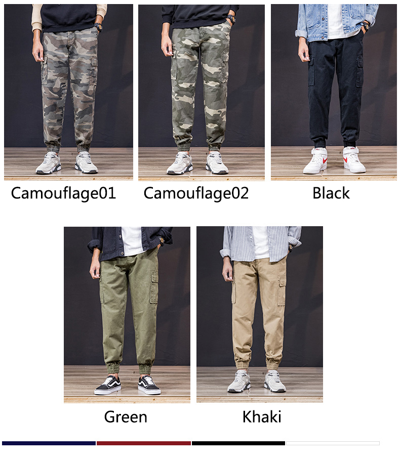 KSTUN Cargo Pants Men 100% Cotton Baggy Military Pants Khaki Camouflage Pants Casual Man Trousers Loose fit Streetwear Men Joggers 12