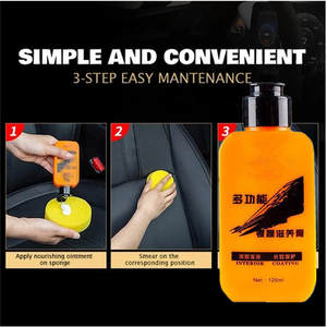 Automotive Interior Auto & Leather Renovated Coating Paste Maintenance Agent Leather Refurbishing Cleaner