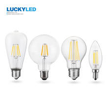 Led Bulb E27 220v 110v 2W 4W 6W 8W E14 Led Lamp Dimmable Light Bulb Retro Edison Filament Bulb G95 ST64 A60 C35 E12 Candle Bulb цена и фото
