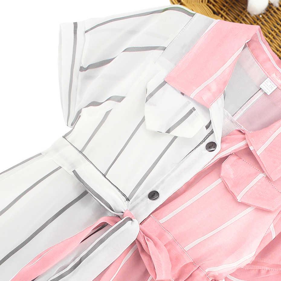 Ragazze Vestito A Strisce Camicetta Per Le Ragazze Patchwork Bambini Vestiti Per Le Ragazze Carino Vestiti della Scuola Per Le Ragazze 6 8 10 12 14 anni