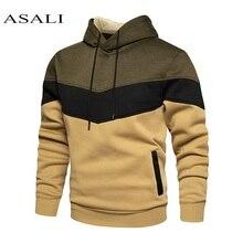 Male Patchwork 2020 Hip hop Hoodie Sweatshirt Men/Women Coat Fleece Hoodies +Sweatpants Suit Autumn Winter Warm Hooded Pullover