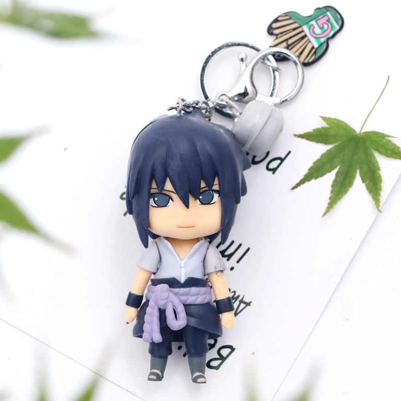 3D Anime Sleutelhanger Sleutelhanger Naruto Sleutelhanger Figuur Kakashi Naruto Pop Auto Sleutelhanger Bag Charms Hanger Voor Cosplay Gift