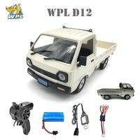 WPL D12 1/10 2WD RC Auto Simulation Drift Lkw Gebürstet 260 motor Klettern Auto LED Licht On-road RC auto Spielzeug Für Jungen Kinder Geschenke
