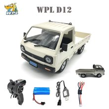 WPL D12 1/10 2WD RC coche de deriva camión cepillado 260 motor de coche de luz LED en RC coche juguetes para niños y regalos de los niños