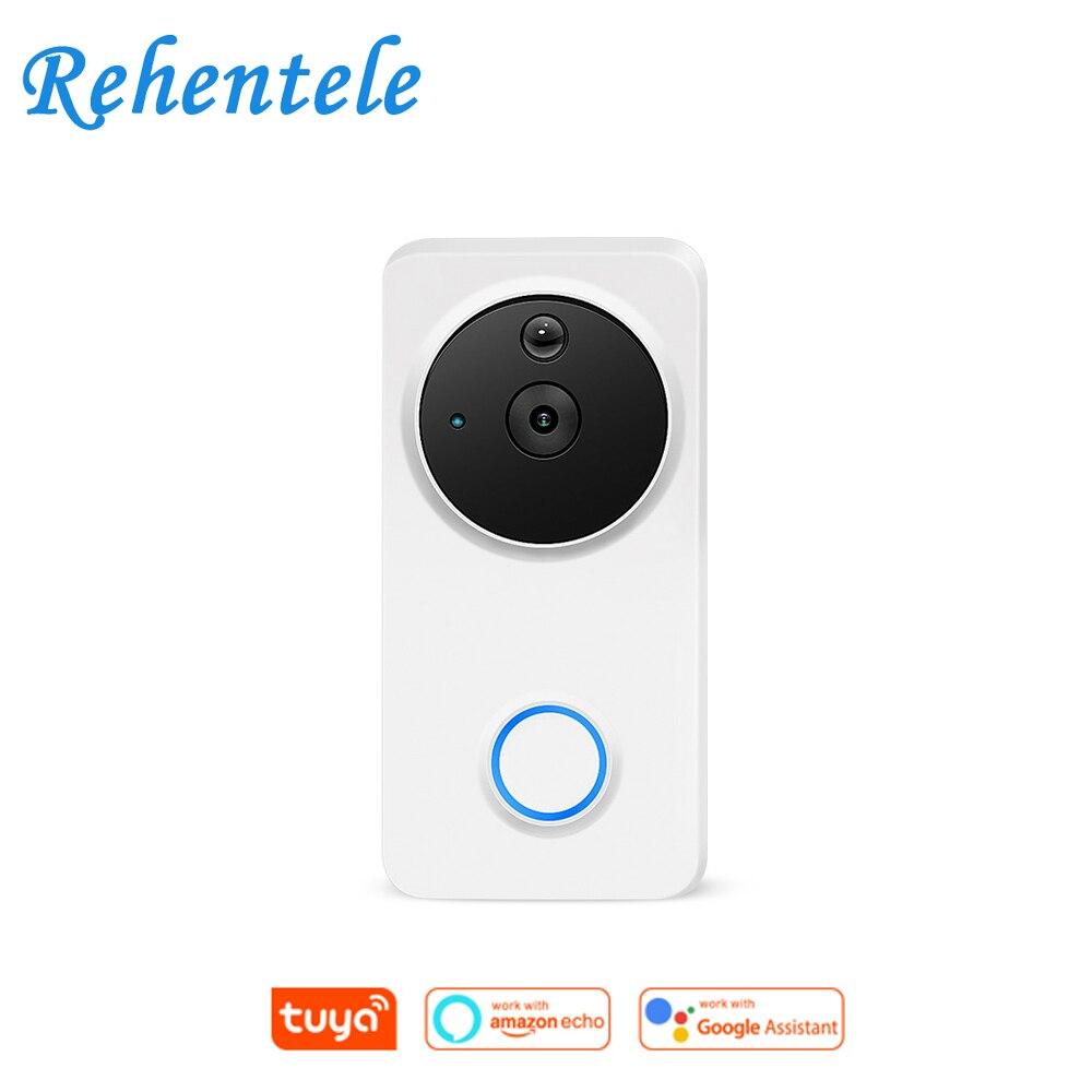 1080P Alexa Google Home IP54 Waterproof Outdoor Wireless Wi-Fi Wire-Free Smart Video Doorbell Intercom Camera WiFi Tuya
