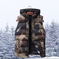 North Winter Jacket Men Clothes Plus Size 7XL Sleeveless Hooded Parka Male Military Face Men's Camouflage Vests Christmas Coats