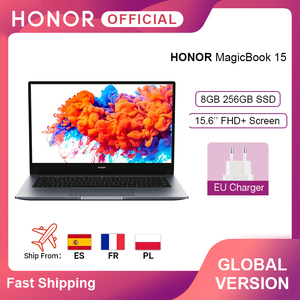 Global Version Huawei Honor MagicBook 15 Laptop 15.6'' FHD AMD Ryzen 5 3500U 8GB 256GB SSD 65W Fast Charger Windows 10 Laptops