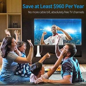 Image 5 - 2019 kapalı HDTV dijital anten taşınabilir 80 120 mil uzun menzilli amplifikatör sinyal güçlendirici ile 4K VHF yerel TV kanalları