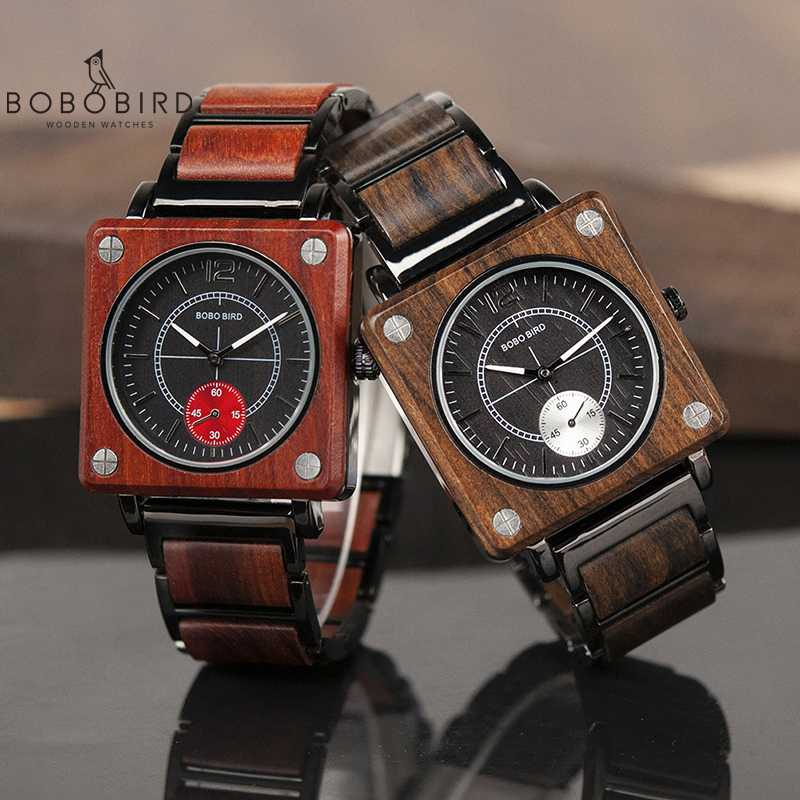 BOBO BIRD Top Brand Luxury Men's Watch Quartz Wood Watch Women Great Gift relogio masculino Accept Logo Drop Shipping V R14
