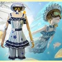Disfraces de Cosplay de Game Identity V, traje mecánico de supervivencia, Tracy Reznik, trajes de baño de piel azul