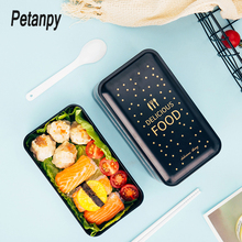 1200ml Lunch box double-layer Portable Bento Eco-friendly Food container with compartments Leakproof Microwavable BPA free