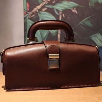 Top Quality Italian Cowhide Designer Doctor Bags Women Luxury Genuine Leather Handbags Shoulder Crossbody Bag Female Pillow 1