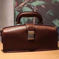 Top Quality Italian Cowhide Designer Doctor Bags Women Luxury Genuine Leather Handbags Shoulder Crossbody Bag Female Pillow