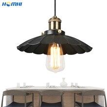 Vintage loft lámparas colgantes industriales paraguas negro Metal dorado pantalla decoración americana loft vintage Lámparas rústicas