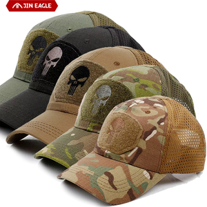 Camouflage Military Tactical Hat Outdoor Hiking Hunting Jungle Patch Army Punisher Operator MeshBaseball Cap Men Cool