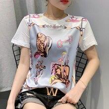 2020 Women Fashion Tshirt Short Sleeve O Neck Tee Shirt Femme Woman Tsh