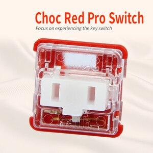 Image 5 - Kailh Box/przełącznik niskoprofilowy czekoladowa mechaniczna klawiatura RGB SMD biała łodyga liniowy ręczny czerwony przełącznik Rro