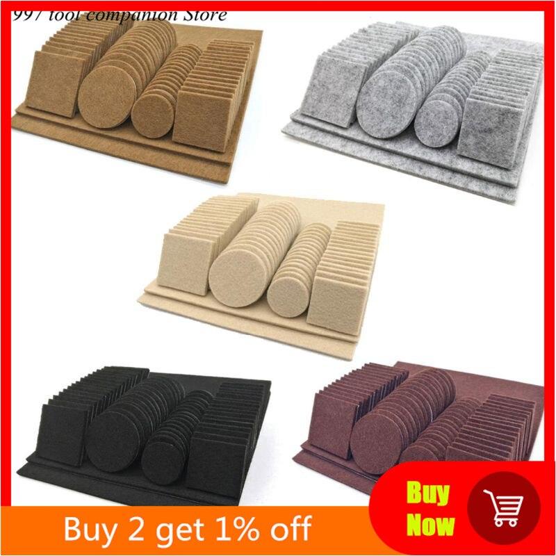 80/130pcs Furniture Chair Table Leg Self Adhesive Felt Wood Floor Protector Pads-0