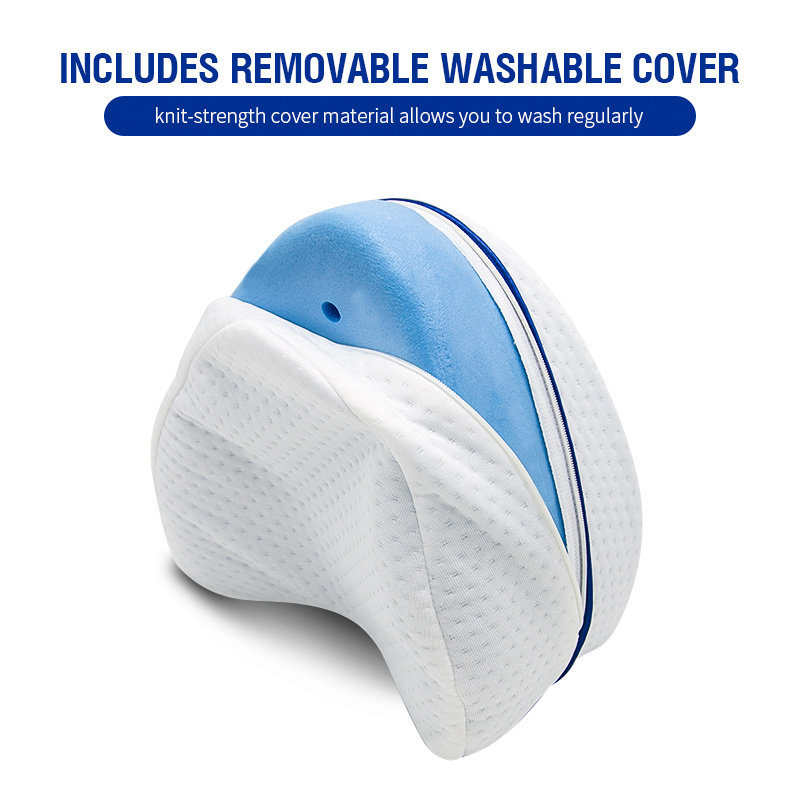 Pregnancy Body Memory Foam Pillow Orthopedic Knee Leg Wedge Foot Cushion for Side Sleeper Sciatica Relief or Pillowcase 4