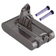 Filter V6 21.6V 3000Mah Li-Ion Battery For Dyson Dc58 Dc59 Dc61 Dc62 Vacuum Cleaner Sv09 Sv07 Sv03 Sv04 Sv06
