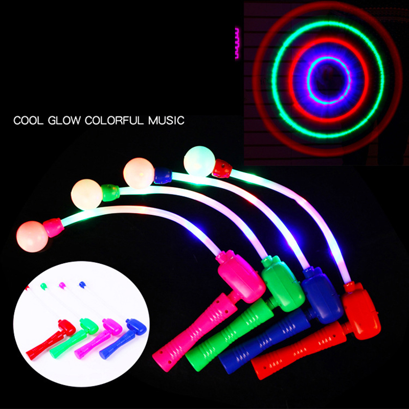 Childrens Novelty Handle Toy LED Lanterns Lamp Glow/music Whip Boys And Girls Gifts Outdoor Activities Festival Concert Supplies
