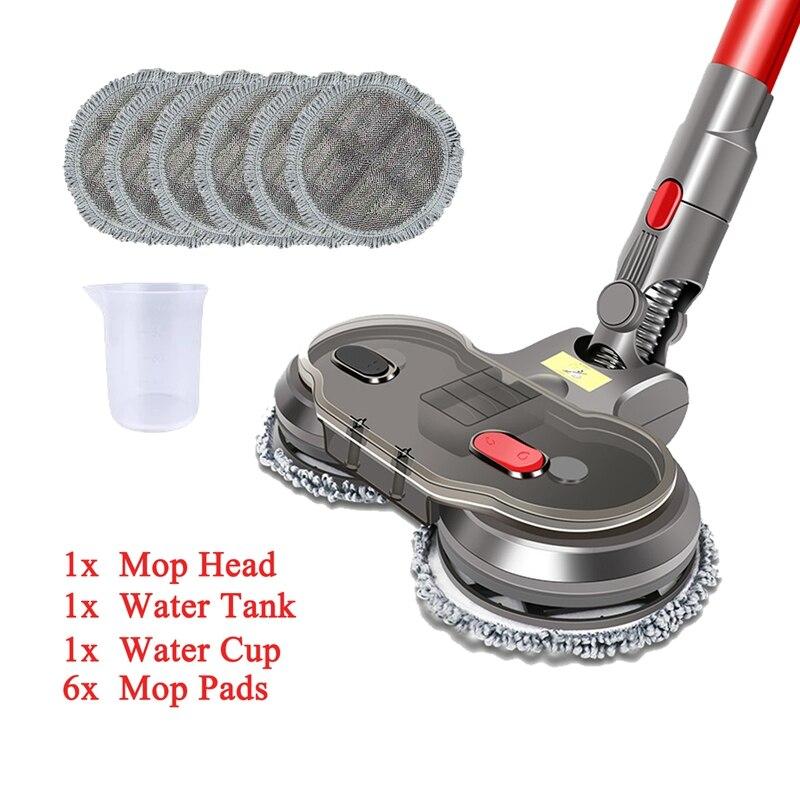 Электрическая головка для влажной и сухой уборки для Dyson V7 V8 V10 V11, сменные детали с резервуаром для воды, насадка для швабры, насадки, чашка дл...