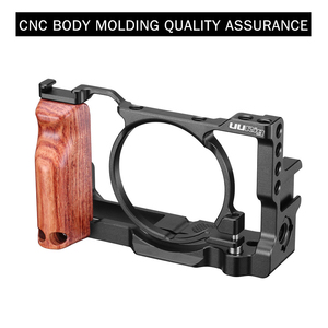 Image 4 - UURig Vlog Camera Cage for Sony RX100 VI/VII Case With Wood Handle Handgrip Dual Cold Shoe Mount Camera Studio Accessories