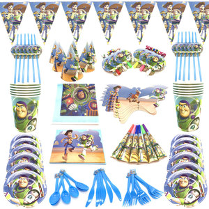 Toy Story Birthday Party Supplies balloons cup plate mask blowouts Toy Story Party Theme tablecloth blue festival party decorate