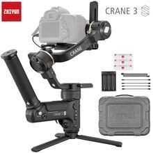 Zhiyun estabilizador de cardán Crane 3 LAB 3 ejes para cámara dslr Nikon D850 Gimbal Sony A9 A7R Canon 1DX Mark II 5D 6D gh5 PK Crane 2