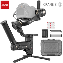 Zhiyun grue 3 laboratoire stabilisateur de cardan 3 axes pour Nikon D850 cardan dslr caméra Sony A9 A7R Canon 1DX Mark II 5D 6D gh5 PK grue 2