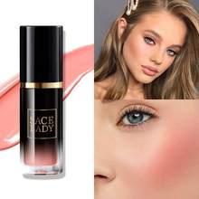 Fard à joues liquide pour visage de dame, crème de maquillage pour joues, Rouge naturel, mat, durable, haute pigmentation, cosmétiques, vente en gros