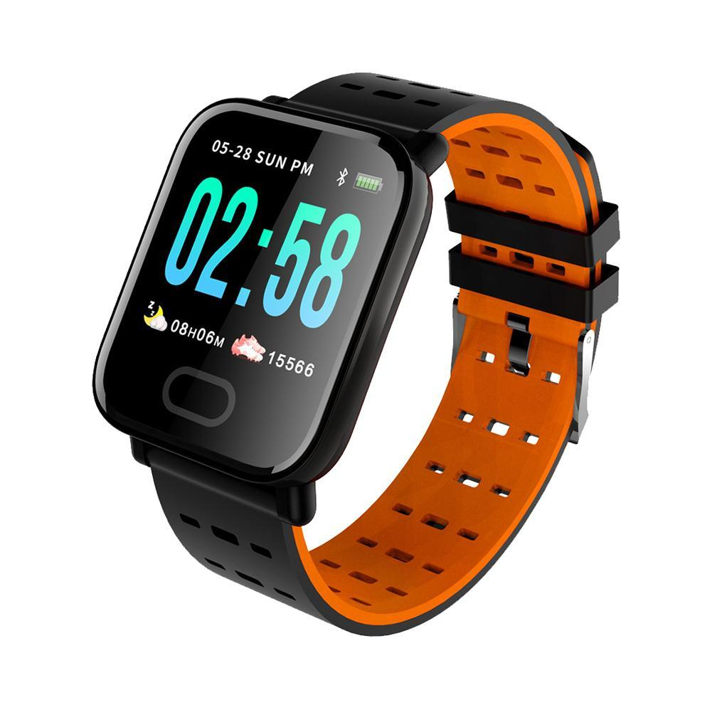 A6 <font><b>Smart</b></font> <font><b>Watch</b></font> With Heart Rate Monitor Fitness Tracker Blood Pressure Smartwatch Waterproof Reminder <font><b>Men</b></font> For Android <font><b>IOS</b></font> image