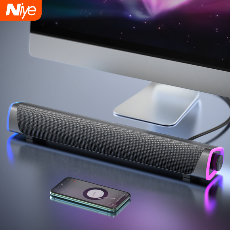 Bluetooth 5.0 Speaker USB Wired Computer Sound bar Stereo Subwoofer Soundbar 3D Home Surround Speakers for PC Theater Aux 3.5mm|Computer Speakers|   - AliExpress