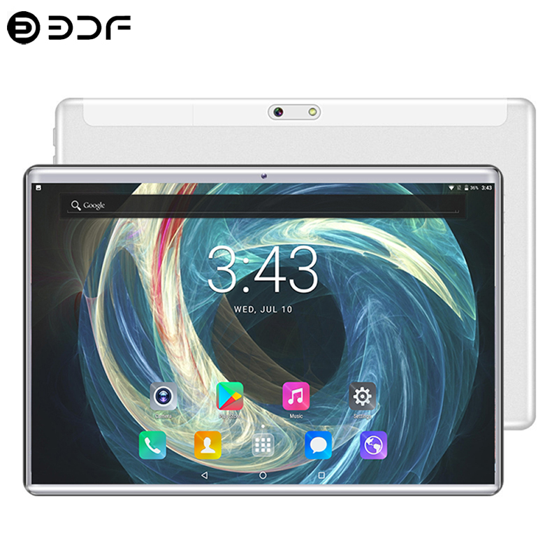 New System 10.1 Inch Tablet 2.5D Tempered Glass 4G Phone Call 8GB/128GB Ten Core Dual SIM Support 8.0 MP Android 9.0 Tablet PC