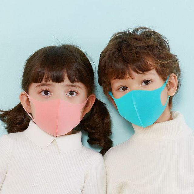 3Pcs Kids PM2.5 Sponge Anti Pollution Face Mask Washable Reusable Sponge Dustproof Mouth Mask Anti Flu Mask for Children 2
