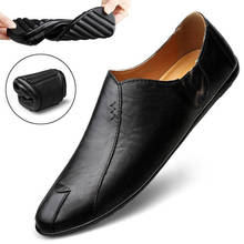 Spring and Summer Men #8217 s Loafers New Casual Business Male Flat Shoes Lazy Work Breathable Mens Driving Flat Sneakers cheap Segapolon Rubber Slip-On Fits true to size take your normal size Basic Solid Massage Waterproof Spring Autumn jwn28