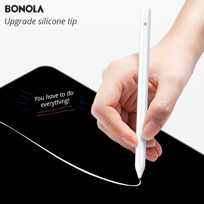 Bonola Magnetic Active Stylus Pen For IPad Pro Stylus Apple Painting Pencil Silicone Pen Head Original 3rd Generation Tablet Pen